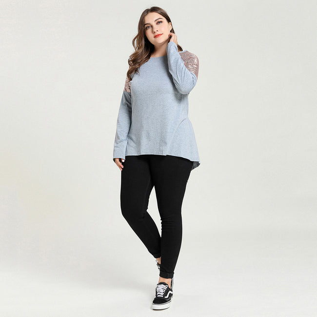 Sequined Long Sleeve T-Shirt