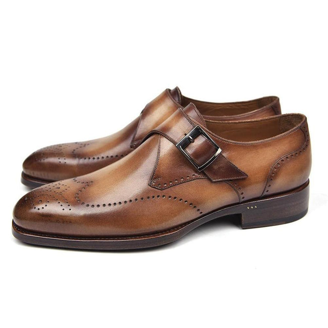 Wingtip Single Monkstraps Formal Dress Shoes