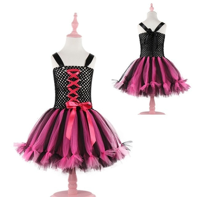 Girls Halloween Pirate Cosplay Tutu Dress