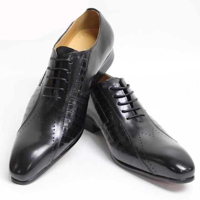 Luxury Italian  Men Lace Up Business Shoes