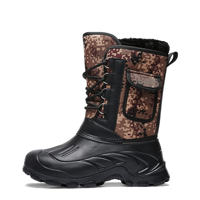 Fashion Camouflage Snow Men Boots