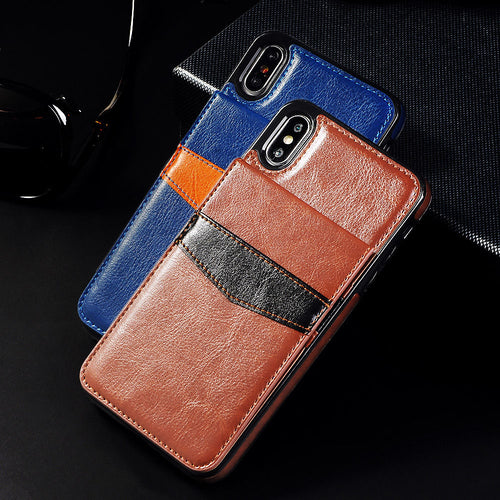 Luxury Flip Leather Wallet Cases For iPhone X 7 6 6s 8 Plus