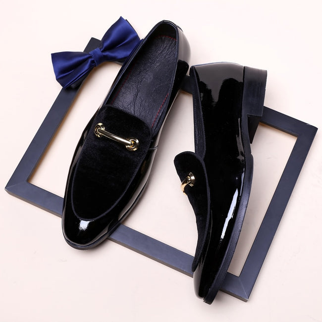 Dress Shoe - Plus Size Men Wedding Blue Dress Shoes