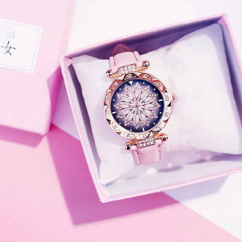 Starry Sky Watch Luxury Rose Gold Diamond Watches