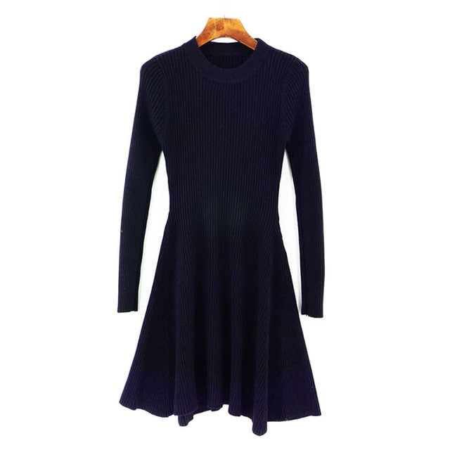 Women's Irregular Hem Casual O-neck A Line Dresses