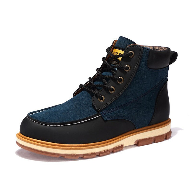Leisure Split Leather High-Up  Men's Ankle Boots
