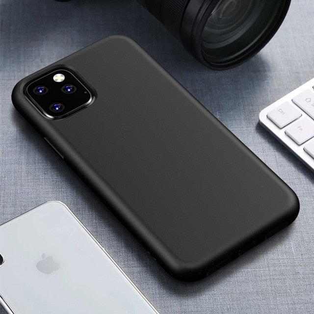 Luxury Soft Silicone Phone Case Cover for iPhone 11Pro Max Coque