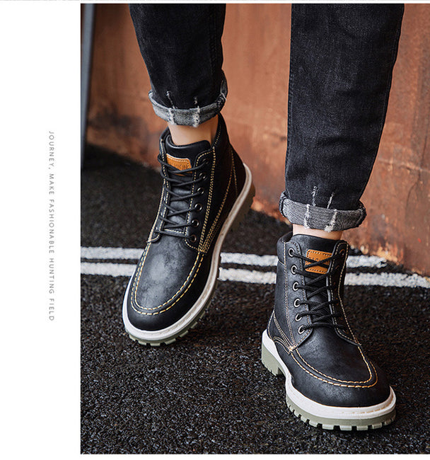 Early Winter  Men's Trend Cool Single Ankle Boots