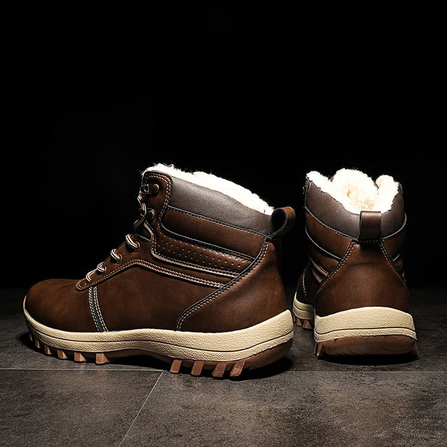 High Quality Leather  Waterproof Outdoor Working Snow  Ankle Boots