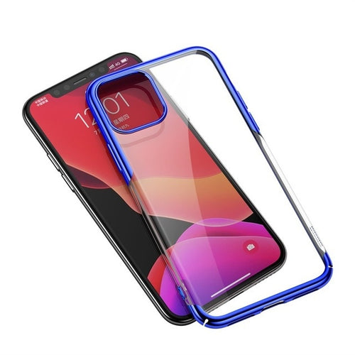 Luxury Plating Soft Clear Transparent Phone Cover For iPhone 11 Pro Max