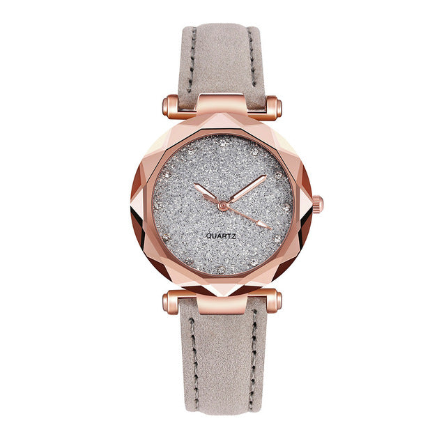 New Luxury Rhinestone Bracelet Watch Women Starry Sky Watches