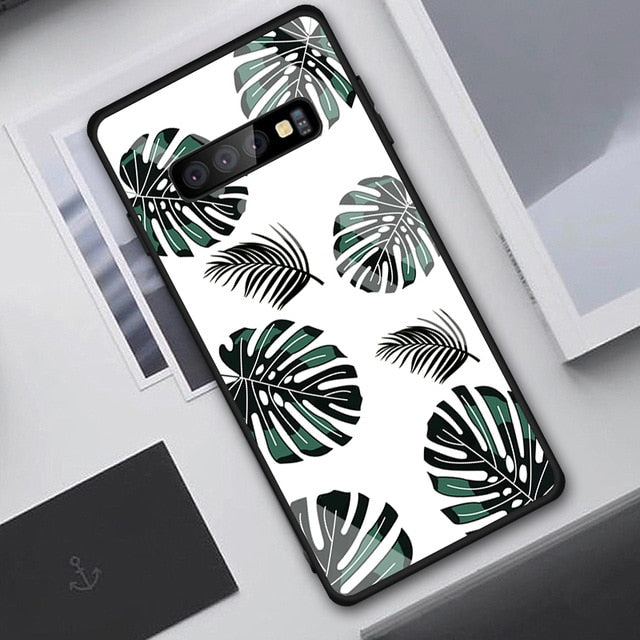 Tempered Glass Case For Samsung Galaxy S10 S9 S8 Plus