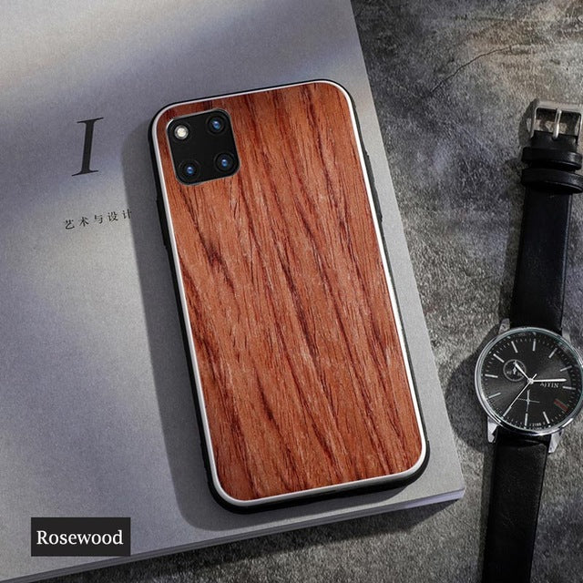 For iPhone X XS XS Max XR Cover Bamboo Wood Hard Phone Case