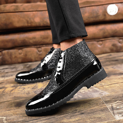 Italy Business Bullock Shining Men's Formal Shoes