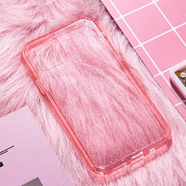 Luxury Glitter Slim Transparent Case For iPhone 11 Pro