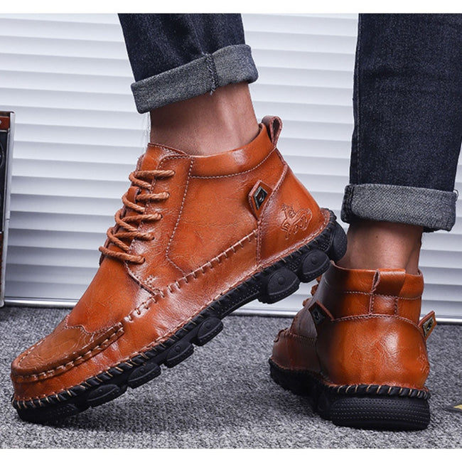 Fashion Wear-resistant Leather  Men Boots
