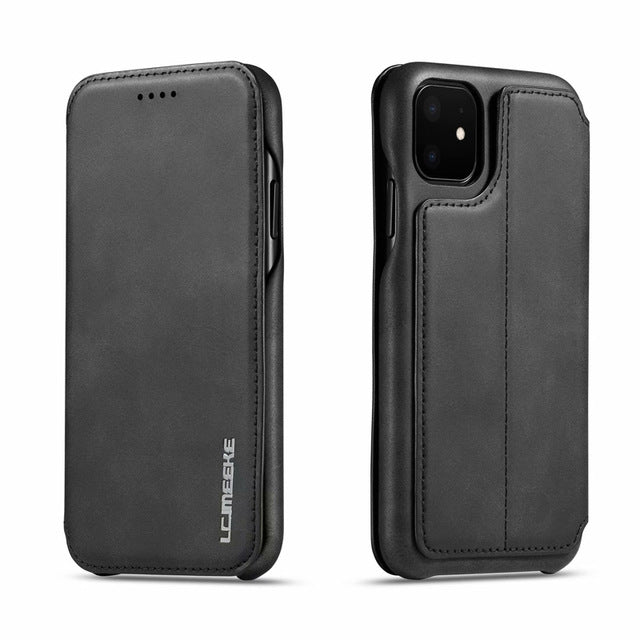 Leather Flip Phone Case for iPhone 11 Pro Max 11Pro
