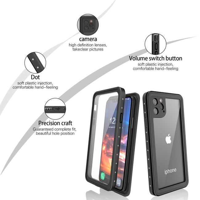 Waterproof Cases For iPhone 11 Pro Max Full Body Shockproof Built in Screen Protector