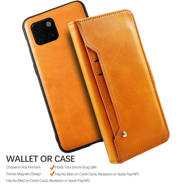 For iPhone 11 Pro Max Case Separable PU Leather Flip Rotation Wallet Cover