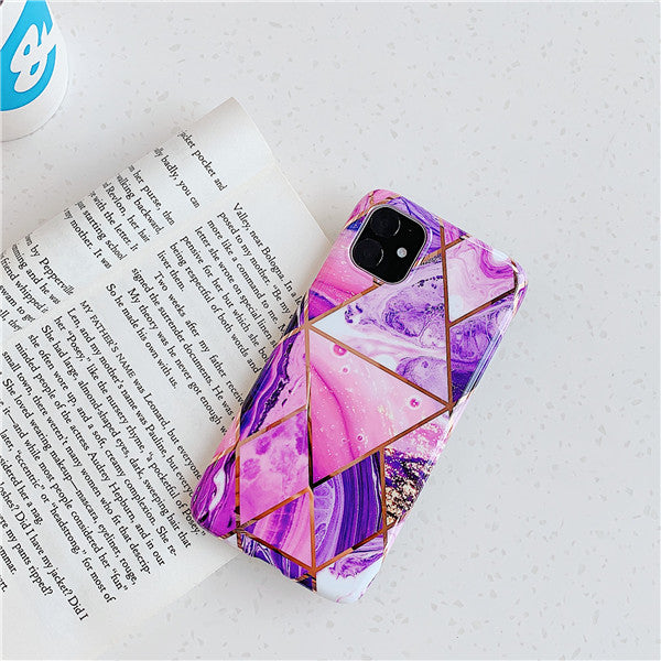 For iPhone 11 Pro MAX Soft TPU IMD Tempered Glass Case