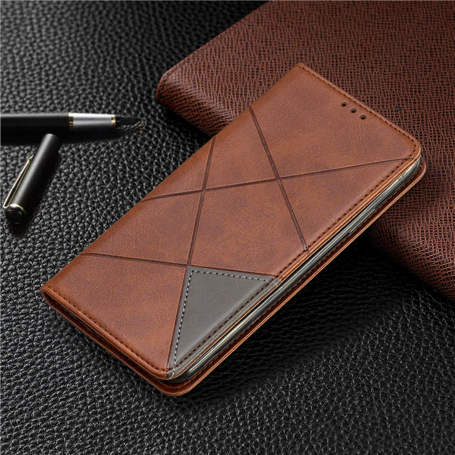 Leather Flip Case for  iPhone 11  Book Folding bracket shell