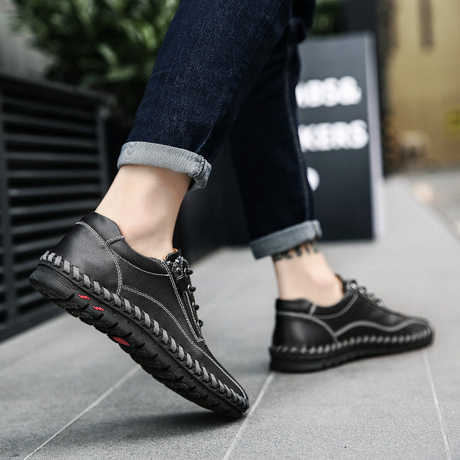 Luxury Zipper Opening Leisure Slip Moccasins Shoes