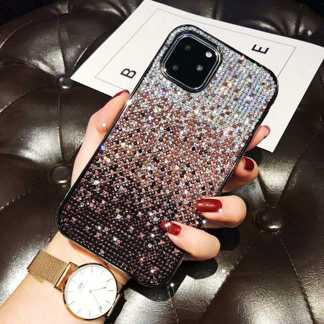Luxury Full Diamond Glitter Gradient Case for iphone 11 Pro Max