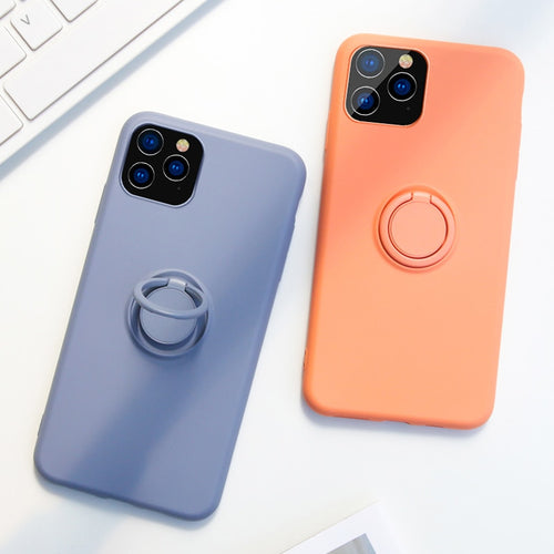 Luxury Ring Silicone Case For iPhone 11 Pro Max 11Pro 11ProMax