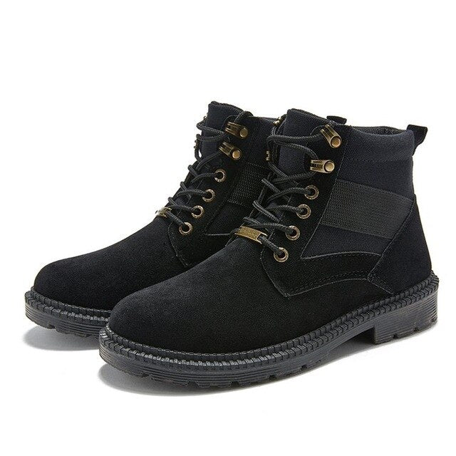 Fashion Men  Lace up Ankle Boots