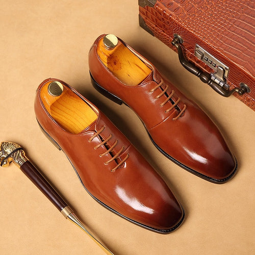 British Fashion Oxford Leather  Men's Dress Shoes