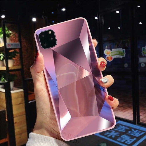 Glitter 3D Diamond Texture Protection Case For iPhone 11 Pro Max