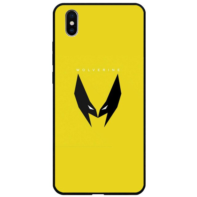 Super Hero Flat Mark Glass Case For iphone 11 Pro Max
