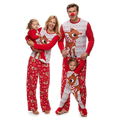 Family Elk Christmas Pajamas Set