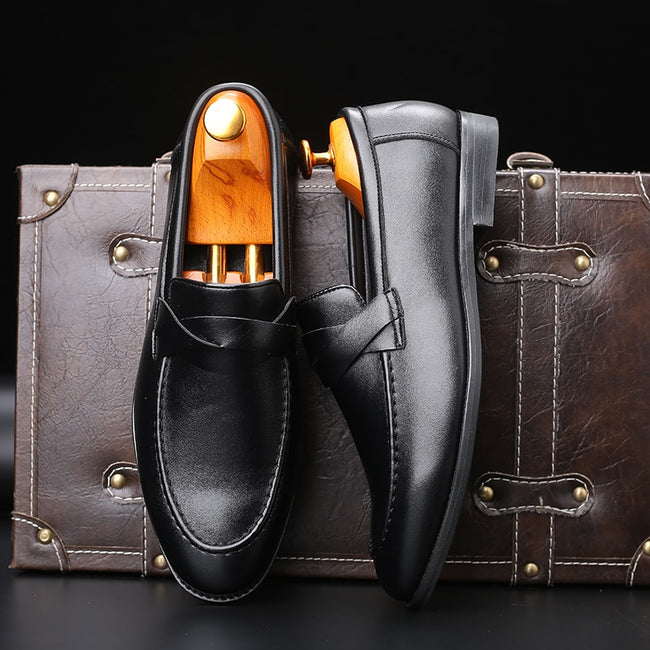 Italian Luxury  Flats Party Wedding  Men's Formal Shoes