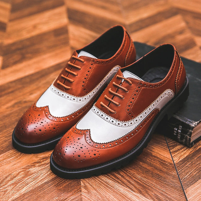 Mixed Colors Casual British Men's Formal Shoes