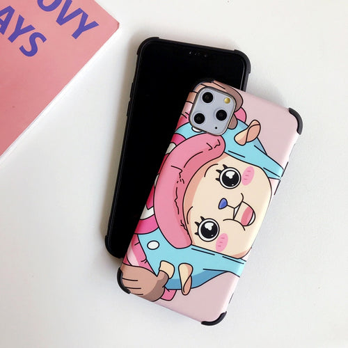 Cute Luffy Tony Chopper soft Cover For iPhone 11 pro max