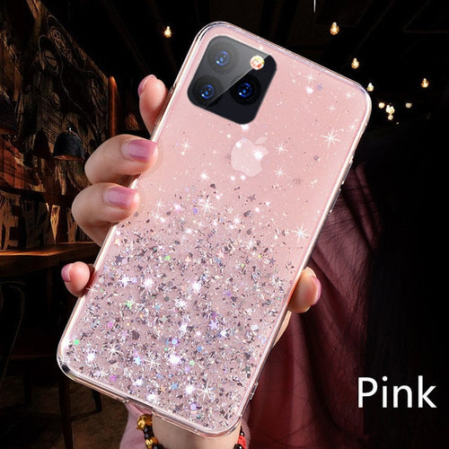 Luxury Bling Glitter Phone Case For iPhone 11 Pro X XS Max XR Soft Silicon Cover