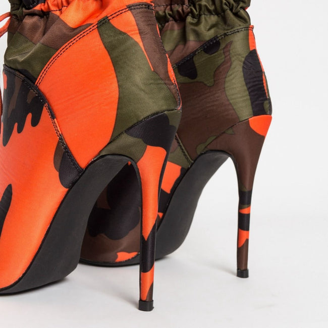 High Heels Stilettos Fashion Camouflage Ankle Boots