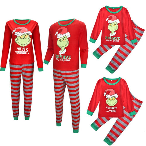 Cartoon Print Pajamas  Cotton Family Christmas Clothes
