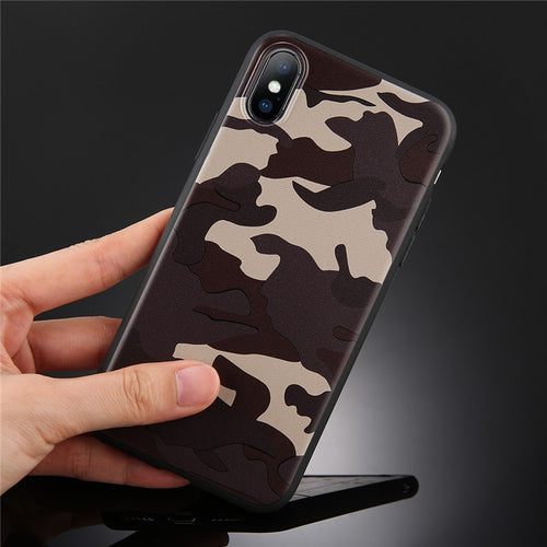 Army Green Camouflage Case For iPhone11 Pro XR XS Max