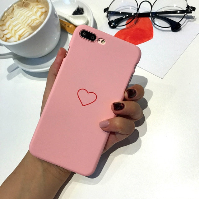 Hard Heart Love Pink Phone Case XR XS 11 Pro