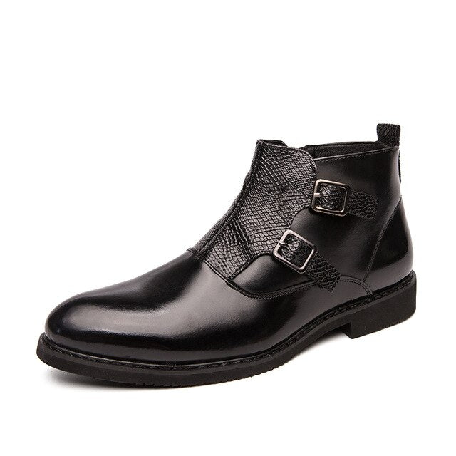Italy Fashion Dress High Help Men Chelsea Boots