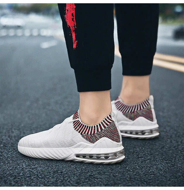 New Air Mesh Breathable Fly Weave Male Shoes
