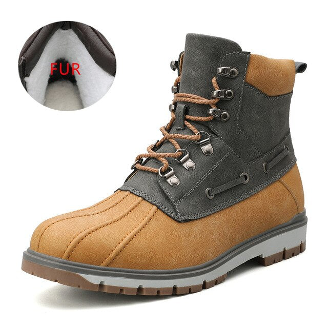 Winter Warm Luxury Snow Men's Martin Boots