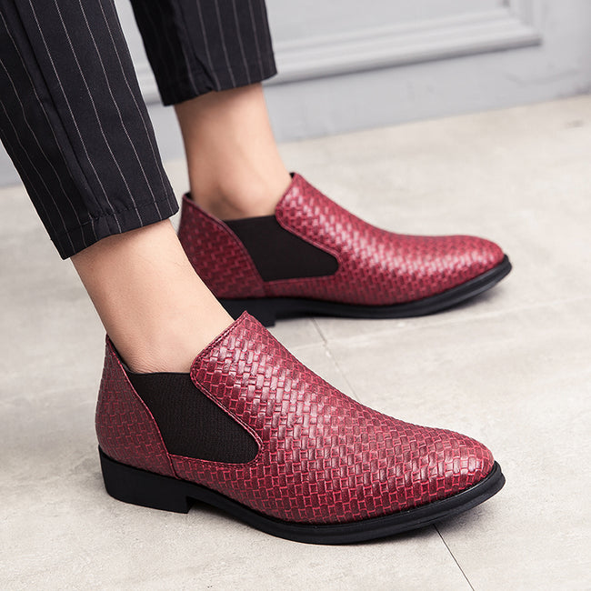 Fashion High Help Leather Shoes