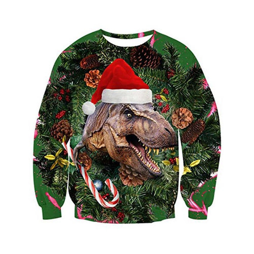 Christmas Sweater 3D Print Moon Holiday Party Sweatshirt