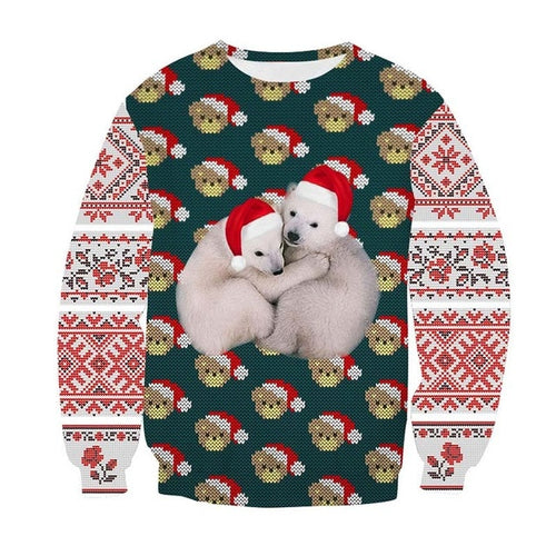 Christmas Sweater Print Funny Holiday Party Sweatshirt