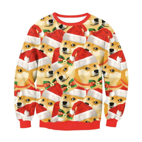 Christmas Sweater Fashion Print Sweatshirt