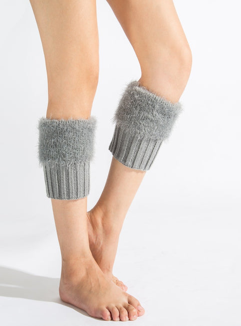 1 Pair Winter Warm Leg Warmers Women's Boot Cuffs Knitted Sock
