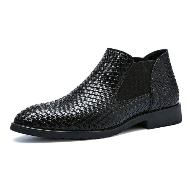 Fashion Hand-woven Men's Leather Shoes